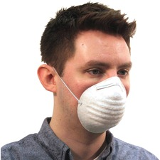 ProGuard Disposable Nontoxic Dust Mask - Disposable - Dust, Pollen Protection - Polypropylene - White - 50 / Box