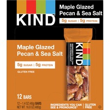 KND17930 - KIND Maple Glazed Pecan/Sea Salt Nut/Spice Bars