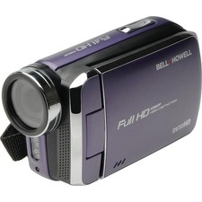 "Bell+Howell Digital Camcorder - 3"" - Touchscreen LCD - Full HD - Purple"