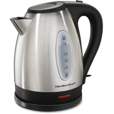 Hamilton Beach 1.7L Stainless Steel Kettle - 1500 W - 1.70 L - Silver