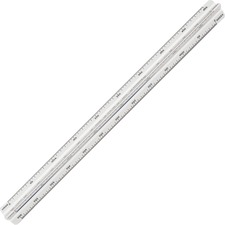 Staedtler Mars Triangular Scale - Metric Measuring System - Solid Plastic - 1 Each - White