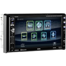 SSL DD889B Double-DIN 7 inch Motorized Touchscreen DVD Player, Receiver, Bluetooth, Detachable Front Panel, Wireless Remote
