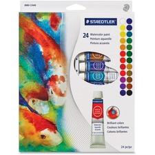 Staedtler 8880 Watercolor Paints - 12 mL - 24 / Set - Assorted