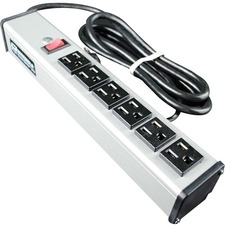 C2G 15ft Wiremold 6-Outlet Plug-In Center Unit 120v/15a Lighted Switch 6-Outlet Power Strip