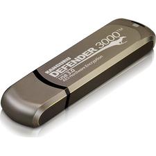 Kanguru Defender3000 FIPS 140-2 Level 3, SuperSpeed USB 3.0 Secure Flash Drive, 128G