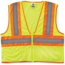 EGO 21295 Ergodyne GloWear Class 2 Two-tone Lime Vest EGO21295