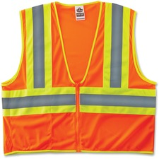 EGO 21307 Ergodyne GloWear Class 2 Two-tone Orange Vest EGO21307