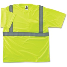 EGO 21504 Ergodyne GloWear Class 2 Reflective Lime T-Shirt EGO21504