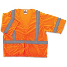 EGO 22015 Ergodyne GloWear Class 3 Orange Economy Vest EGO22015