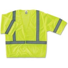 EGO 22025 Ergodyne GloWear Class 3 Lime Economy Vest EGO22025