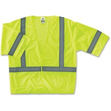 EGO 22027 Ergodyne GloWear Class 3 Lime Economy Vest EGO22027