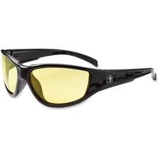EGO 55050 Ergodyne Njord Yellow Lens Safety Glasses EGO55050