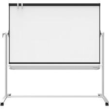 QRTECM64P2 - Quartet® Prestige® 2 Mobile Presentation Easel, Reversible Magnetic Whiteboard/Flipchart, 6' x 4', Graphite Finish Frame