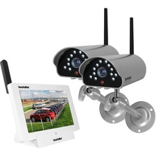 SecurityMan Outdoor/Indoor Digital Wireless iSecurity Camera System with 8GB