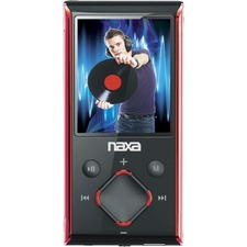 Naxa NMV-173N 4 GB Red Flash Portable Media Player