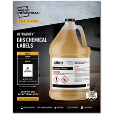 AVE 60502 Avery UltraDuty GHS Chemical Labels AVE60502
