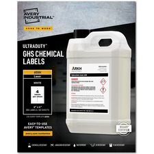 AVE 60504 Avery UltraDuty GHS Chemical Labels AVE60504