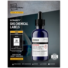 AVE 60506 Avery UltraDuty GHS Chemical Labels AVE60506