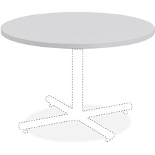 LLR62575 - Lorell Round Invent Tabletop - Light Gray