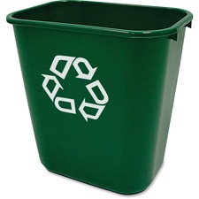 RCP 295606GN Rubbermaid Comm. Deskside Recycling Container RCP295606GN