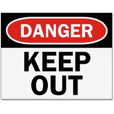 TFI P1949KP Tarifold Danger Keep Out Magneto Sign Insert TFIP1949KP