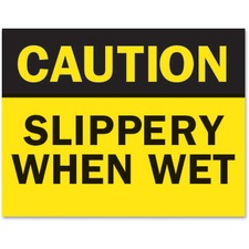 TFI P1949SW Tarifold Caution Slippery Wet Magneto Sign Insert TFIP1949SW