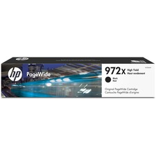 HP 972X Original Ink Cartridge - Single Pack - Page Wide - High Yield - 10000 Pages - Black - 1 Each