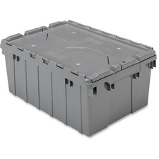 AKM39085GREY - Akro-Mils Attached Lid Storage Container