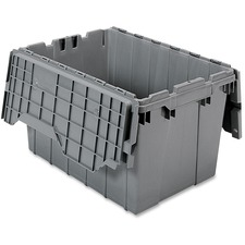 AKM39120GREY - Akro-Mils Attached Lid Storage Container