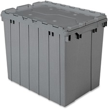 AKM39170GREY - Akro-Mils Attached Lid Storage Container