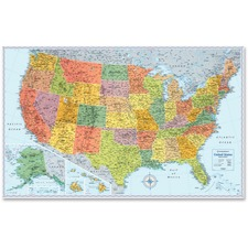 AVT RM528012762 Advantus Rand McNally U.S. Wall Map AVTRM528012762