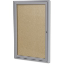 GHE PA13624VX18 Ghent 1-door Enclosed Vinyl Bulletin Board GHEPA13624VX18