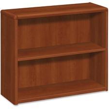 HON 10752CO HON 10700 Srs Cognac Lam. Fixed Shelves Bookcase HON10752CO