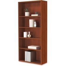 HON 107569CO HON 10700 Series Cognac Laminate 5-shelf Bookcase HON107569CO