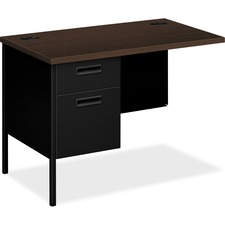 HON P3236LMOP HON Metro Classic Series Mocha/Black Steel Desking HONP3236LMOP