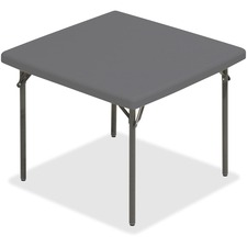 ICE 65277 Iceberg IndestrucTable TOO Square Folding Table ICE65277