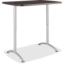 ICE 69305 Iceberg Walnut Top Sit-to-Stand Table  ICE69305