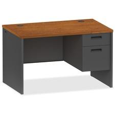 LLR 97114 Lorell Cherry/Charcoal Modular Desk Furniture LLR97114