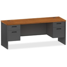 LLR 97116 Lorell Cherry/Charcoal Modular Desk Furniture LLR97116