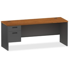 LLR 97120 Lorell Cherry/Charcoal Modular Desk Furniture LLR97120