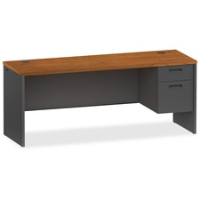 LLR 97122 Lorell Cherry/Charcoal Modular Desk Furniture LLR97122