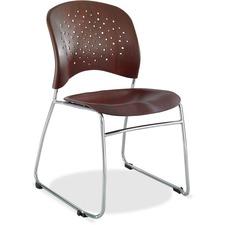 SAF 6810MH Safco Reve Plastic Wood Back Guest Chair SAF6810MH
