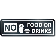 USS 9434 U.S. Stamp & Sign No Food Or Drinks Window Sign USS9434