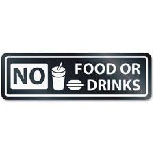 USS 9434 U.S. Stamp & Sign No Food Or Drinks Window Sign USS9434