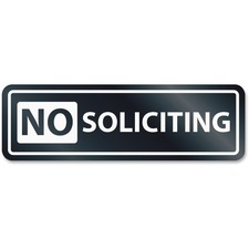USS 9435 U.S. Stamp & Sign No Soliciting Window Sign USS9435