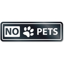 USS 9439 U.S. Stamp & Sign NO PETS Window Sign USS9439