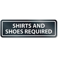 USS 9440 U.S. Stamp & Sign Shirts/Shoes Reqrd Window Sign USS9440