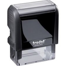 """Printy 4914 Self-inking Stamp - Message Stamp - 1.02"""" (26 mm) Impression Width x 2.52"""" (64 mm) Impression Length - 1 Each"""