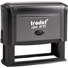 """Printy 4925 Self-inking Stamp - Message Stamp - 0.98"""" (25 mm) Impression Width x 3.23"""" (82 mm) Impression Length - 1 Each"""