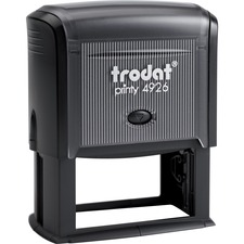 """Trodat Printy 4926 Self-inking Stamp - Message Stamp - 1.50"""" (38 mm) Impression Width x 2.95"""" (75 mm) Impression Length - Assorted - 1 Each"""